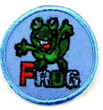 Applikation zum Aufbügeln  Bügelbild 2-341 Frog