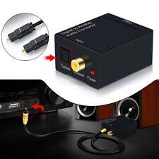 Adaptador de audio digital a analógico Coaxial Toslink RCA L / R adaptador Moda
