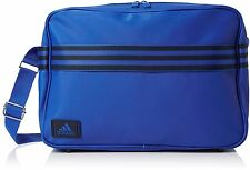ADIDAS ENAMEL RETRO MESSENGER/LAPTOP BAG NAVY BLUE/BLACK MEDIUM
