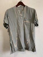 Acid Dyed - Henley style shirt - Sz L