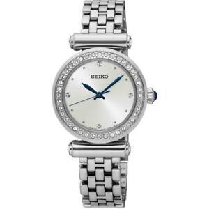 Seiko Women's Conceptual 28mm Steel Bracelet & Case Quartz Watch SRZ465P1