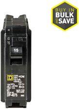 Square D Homeline 15 Amp 1 Pole Single pole Circuit Breaker Electrical Black