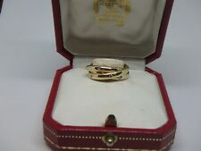 Cartier Trinity Diamonds 18k Yellow Gold 3mm 3 Band Ring Size 5