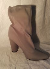 Grey Neoprene PointedHeeled AnkleBoots. Size 7. From prettylittlething.com.NEW