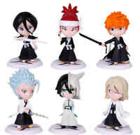 6pcs Anime Bleach Kurosaki Ichigo PVC Figure Toy Doll Model Collection 3''
