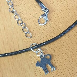 Tiny Cat Stainless Steel Charm Necklace - UK SELLER