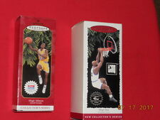 HALLMARK ORNAMENT -  MAGIC JOHNSON & SHAQUILLE O'NEAL - WITH TRADING CARDS