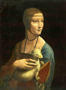 Leonardo da Vinci Lady with an Ermine Poster Reproduction Giclee Canvas Print