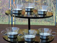 WMF Rom 6 versilberte Teehalter mit 6 Original Teegläser !!! Bienenkorbmarke !!!