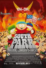 SOUTH PARK BIGGER LONGER & UNCUT MOVIE POSTER 2 Sided ORIGINAL 27x40 TREY PARKER