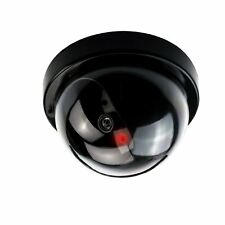 Dummy CCTV Dome Camera  + Red LED Light - Ceiling or Wall Mounted