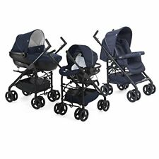 Chicco Trio-system Sprint Black Kinderwagen Blue Passion