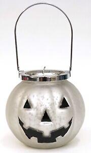 New Yankee Candle Halloween Mercury Glass Large Jack O Lantern Votive Holder