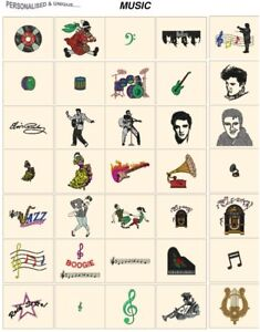 MUSIC. CD or USB machine embroidery designs files most formats pes jef hus etc