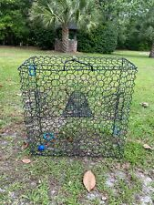 """New listing Heavy Duty Shrimp Lobster Crab Trap Vinyl Coated Cage 24"""" x 24"""" x 11"""""""