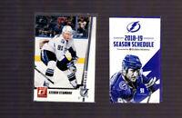 2010-11 Donruss Tampa Bay Lightning #81 Steven Stamkos + Bonus Pocket Schedule