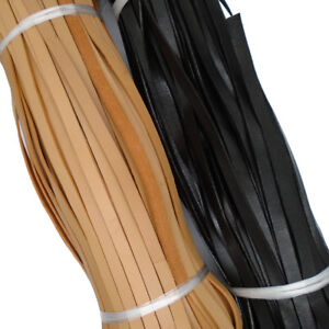3 Meters 10mm Flat Genuine Real Leather Strap Cord 10x2mm String Lace Thong