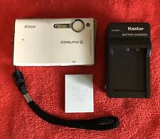 Nikon COOLPIX S6 6.0MP Digital Camera~~Ivory~~NICE~~Charger~~Battery~~