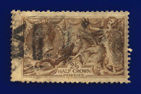 1918 SG414 2s6d Chocolate-Brown Bradbury Wilkinson N65(3) Fair Used Cat £75 cqcw
