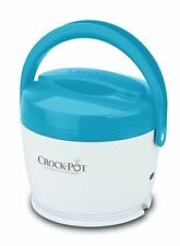 Crock-Pot 20 oz Lunch Crock Food Warmer Blue Warm Travel Hot Container Safe NEW