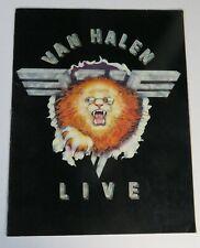 "Eddie Van Halen VAN HALEN Signed Autograph ""Live"" 1982 Concert Tour Program"