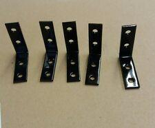 "1 1/2"" 90 Degree Steel (Angle)Lot of 5 Corner Braces ""L"" PAINTED BLACK/ SCREWS"