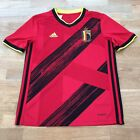 Adidas BELGIUM (2020) Kids Football Home Shirt Top Size 11-12 Years 152cm, Red