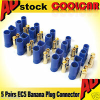 5 Pair EC5 Banana Plug Female Male Bullet Gold Connector For RC ESC LIPO Battery
