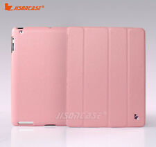 Jisoncase Wake Up and Sleep Function Leather Case For Apple New iPad 3rd Pink !