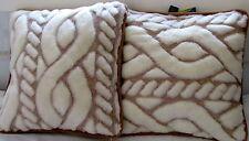 Juego de cojines cabeza 2 piezas, Cojín para sofá, Decorativo Lana Cachemira