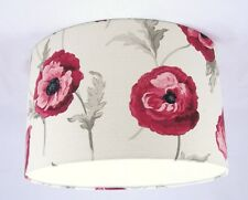 "13"" Lampshade Handmade in UK - Laura Ashley Freshford Poppy Fabric"