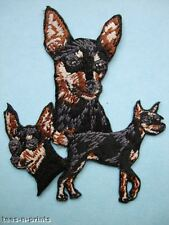 IRON-ON EMBROIDERED PATCH - MINIATURE PINSCHER - DOG