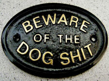 DOG POO BEWARE - HOUSE DOOR PLAQUE SIGN COLLAR TAG