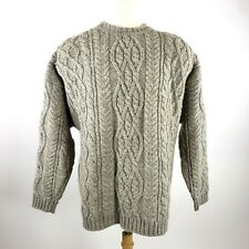 Abercrombie Fitch Wool Chunky Cable Knit Fisherman Sweater XL