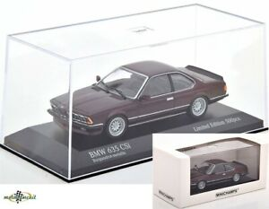 BMW 635 CSI E24 1982 dunkelrot metallic 1:43 Minichamps