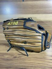 "Wilson A730 ECCO Leather Baseball/Softball Glove 13"" RHT. Brown/Black"