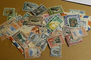 57 Sri Lanka / Ceylon used postage stamps philately postal Philatelic kiloware