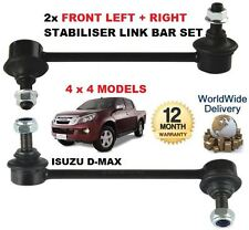 FOR ISUZU D MAX DMAX 2.5TD 2012-> 2x FRONT LEFT + RIGHT STABILISER SWAY LINK BAR