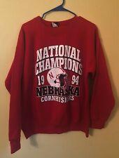 Vintage University of Nebraska Cornhuskers 1994 Red College Sweatshirt Large