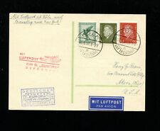 Catapult Cover 1931 Grau K69c Germany Post w/ Supplementary Flight to Ohio USA