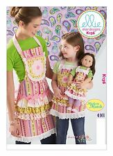 Kwik Sew SEWING PATTERN K136 Made To Match Misses/Girls/Dolls Aprons