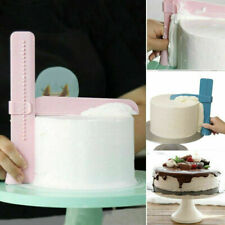 Adjustable Fondant Cake Scraper Icing Piping Cream Spatula Edge Smoother Tool UK