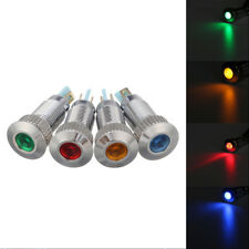 12V Metal 8mm Car Truck LED Panel Dash Lamp Warning Light Indicator Waterproof*1