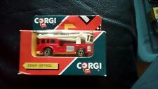 Corgi red Simon Snorkel with white ladder vehicle die cast MIB 1990