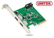 New Unitek Y-7305 USB 3.1 2 Port PCI-E Card PCI Express Card ( Asmedia chipset )