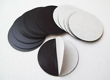 """Round 2.625"""" Magnets- Peel and Stick Adhesive Magnets Only - 100 Free Ship-Sale"""