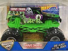 """BRAND NEW """" RARE """" MONSTER JAM """"GRAVEDIGGER""""  1:24 HOT WHEELS RACE TRUCK!!"""