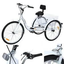 Ridgeyard 26inch 3-Wheel Adult Tricycle Bicycle Trike Cruise Basket Stainless