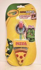 Crayola Backpack Swag Clip Scented Pepperoni Pizza Slice Shaped Eraser Fake Food
