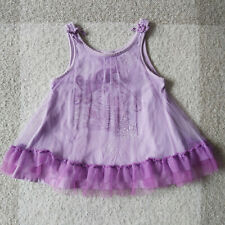 Naartjie Kids Girls Purple Tule Mermaid Tank Top Ruffle Sleeveless Size 6 Large